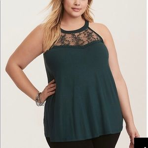 Torrid super soft knit lace inset tank 2X